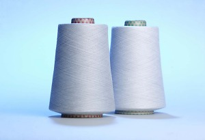 Epitropic conductive steel spun yarns manufactured with 20% steel and 80% polyester