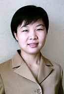 Ms. Xiao Ling at Epitropic Fibres Ltd's first overseas offices, based in Shanghai China